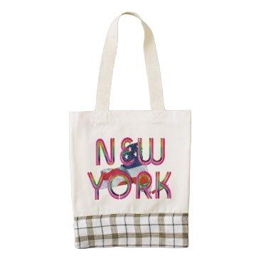USA Themed TEE New York Patriot Zazzle HEART Tote Bag