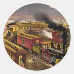 TEE Night Train Round Sticker
