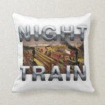 TEE Night Train Throw Pillow