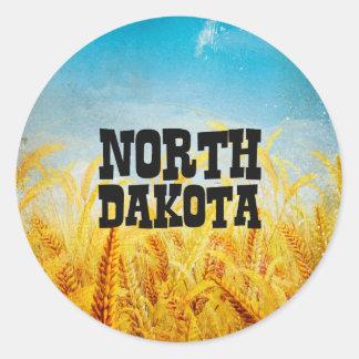 TEE North Dakota Classic Round Sticker