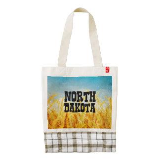TEE North Dakota Zazzle HEART Tote Bag