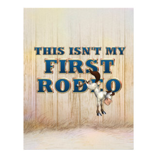 TEE Not My First Rodeo Personalized Flyer