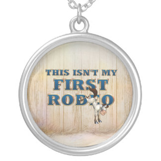 TEE Not My First Rodeo Silver Plated Necklace