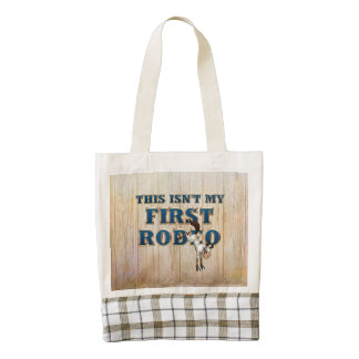 TEE Not My First Rodeo Zazzle HEART Tote Bag