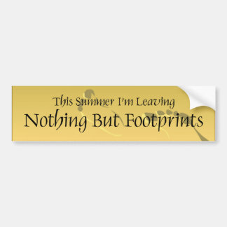 TEE Nothing But Barefoot Bumper Sticker