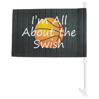 TEE Nothing But Swish Car Flag