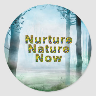 TEE Nuture Nature Now Classic Round Sticker