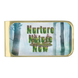 TEE Nuture Nature Now Gold Finish Money Clip