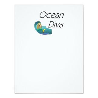 TEE Ocean Diva Personalized Invites