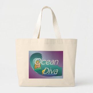 TEE Ocean Diva Jumbo Tote Bag