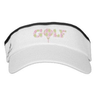 Tee off golf pink slogan headwear visor