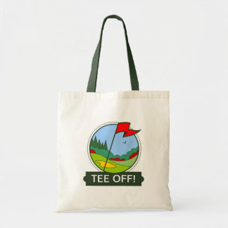 TEE OFF! Golf Shopping Bag