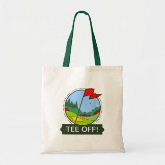 Tee Off! Golfing motif Budget Tote Bag