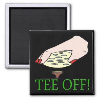 Tee Off Refrigerator Magnet