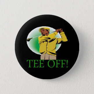 Tee Off Pinback Button