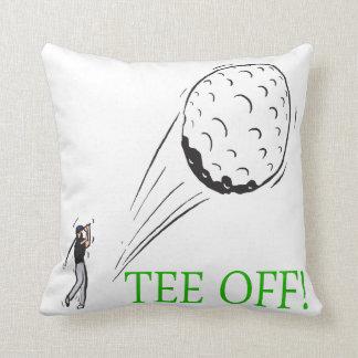 Tee Off Throw Pillow