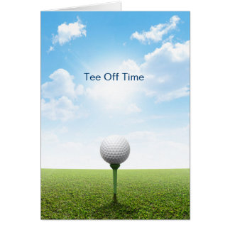 Tee Off Time Card