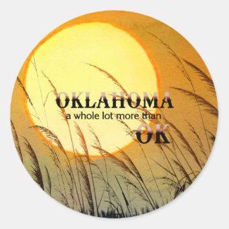 TEE Oklahoma Classic Round Sticker