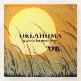 TEE Oklahoma Glass Coaster