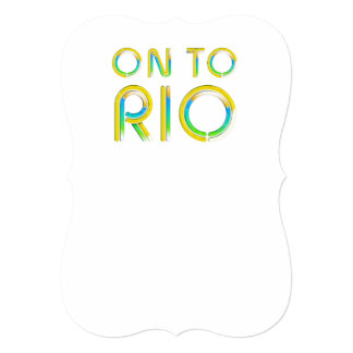 TEE On To Rio 5x7 Paper Invitation Card
