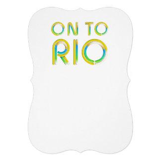 TEE On To Rio Custom Invitations
