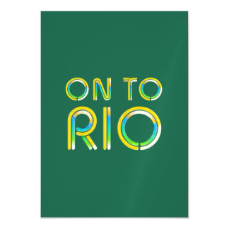 TEE On To Rio Magnetic Card