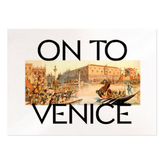 TEE On To Venice Large Business Card