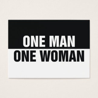 TEE One Man One Woman Business Card