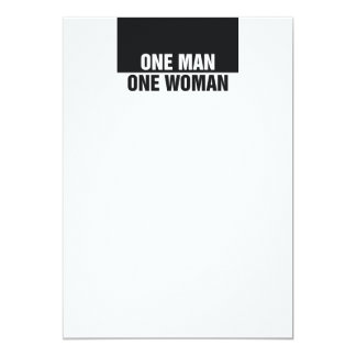 TEE One Man One Woman Card