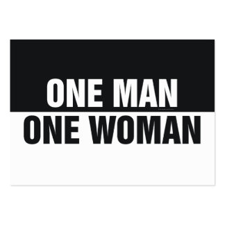 TEE One Man One Woman Large Business Card