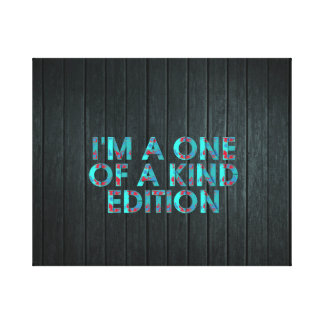 TEE One of a Kind Edition Canvas Print