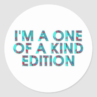 TEE One of a Kind Edition Classic Round Sticker