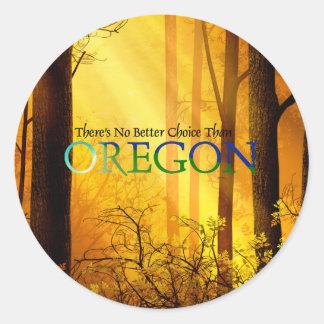 TEE Oregon Classic Round Sticker