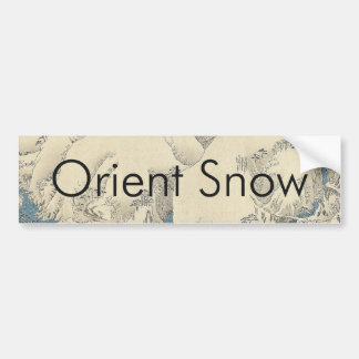 TEE Orient Snow Bumper Sticker
