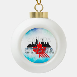 TEE Ottawa Ceramic Ball Christmas Ornament