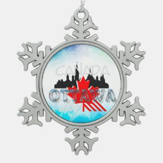 TEE Ottawa Snowflake Pewter Christmas Ornament