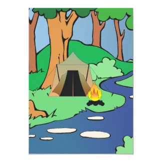 TEE Outdoors Bound 5x7 Paper Invitation Card