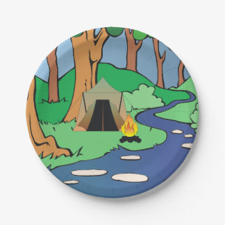 TEE Outdoors Bound 7 Inch Paper Plate
