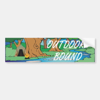 TEE Outdoors Bound Car Bumper Sticker