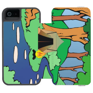 TEE Outdoors Bound Wallet Case For iPhone SE/5/5s