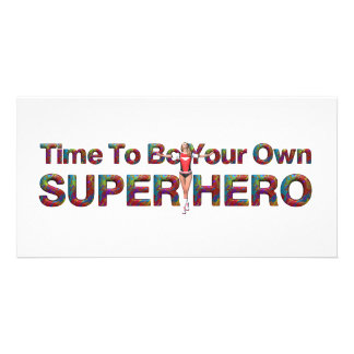 TEE Own Superhero Personalized Photo Card