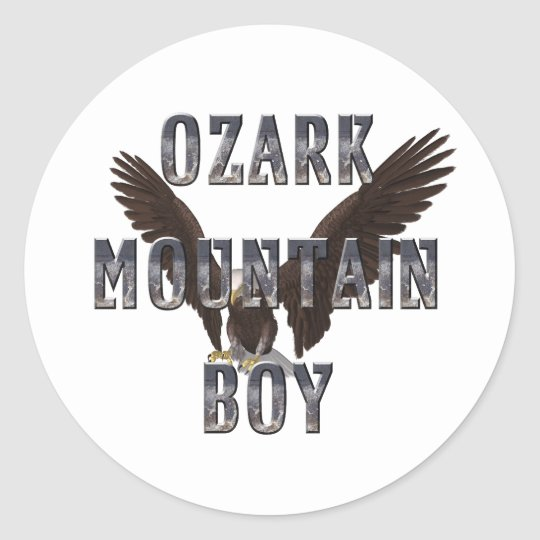 TEE Ozark Mountain Man Classic Round Sticker