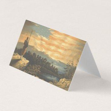 USA Themed TEE Patriotic Sky Business Card