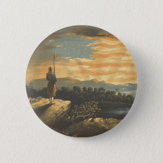 TEE Patriotic Sky Button