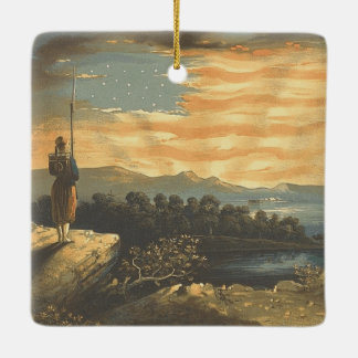 TEE Patriotic Sky Ceramic Ornament