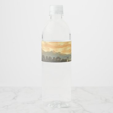 USA Themed TEE Patriotic Sky Water Bottle Label