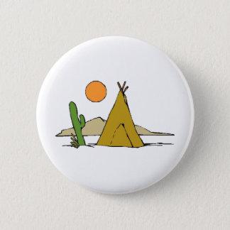 Tee Pee/Sunset Pinback Button