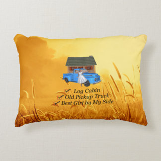 TEE Pickup Slogan Accent Pillow