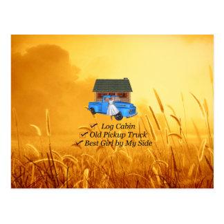 TEE Pickup Slogan Postcard