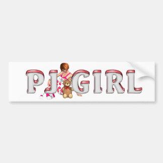 TEE PJ Girl Bumper Stickers